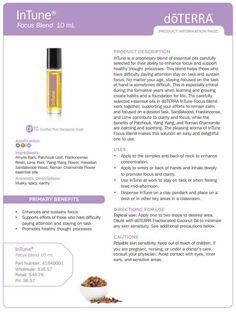 InTune Essential Oil Uses