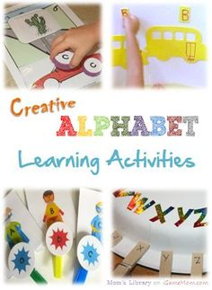 creative alphabet learning activities for kids - great for classroom, homeschool, or just fun activities at home.