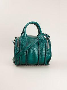 Alexander Wang 'inside-out Rockie' Tote -   Blue leather 'Inside-Out Rockie' tote from Alexander Wang featuring round top handles, a detachable and adjustable shoulder strap, a top zip fastening, an internal zipped pocket and a pebbled leather texture.