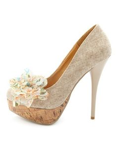Blossom-Accent Canvas Pump: Charlotte Russe