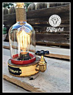 Rustic Desk lamp Elijah Reclaimed wood light от Fifty1st на Etsy