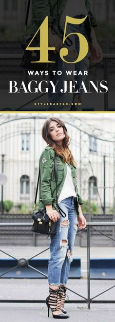 Spring Fashion - 45 baggy jeans outfit ideas to copy right now