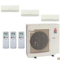 MXZ-3B30NA-1 + (2)MSZ-GE09NA-8 + MSZ-GE18NA-8 Tri Zone Wall Mounted H by Mitsubishi. $3854.95. Mitsubishi MXZ-3B30NA-1 + (2)MSZ-GE09NA-8 + MSZ-GE18NA-8 Tri Zone Wall Mounted Heat Pump Mini Split System - 36,000 BTU Mitsubishi's Mini-Split systems are some of the highest quality split style air conditioners on the market. Well renowned for incredible efficiency and reliability, the new Mr. Slim line of Mitsubishi Mini Splits represents the pinnacle of modern Mini-Split techno...