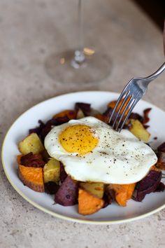 Colorful Potato Hash | Valentine's Day Breakfast Recipe | Whole30 + Paleo