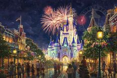 Main Street U.S.A.,® Walt Disney World® – Limited Edition Art - What a great puzzle this would make!