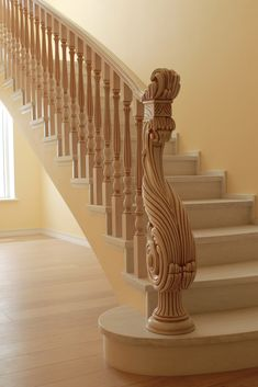 Inventive Staircase Design Tips for the Home – Voyage Afield Wooden Staircase Railing, Stair Railing Design, Door Design, House Design, Modern Stairs, House Stairs, Ornament, Custom Wood, Stairways