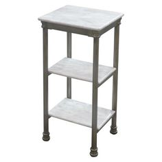 Home Styles Orleans Three Tier Shelving Unit - Marble Laminate