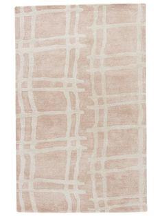 Kate Spade New York Gramercy Broken Plaid Rug, Blush