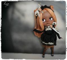 Ooak Custom Blythe Doll Izzy by BlackribbonBlythes on Etsy