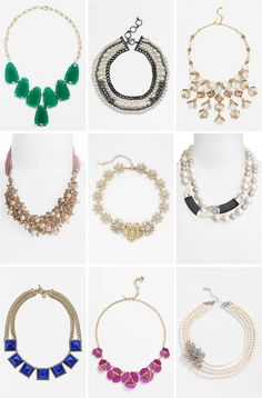 Love these bold necklace ideas for a bride