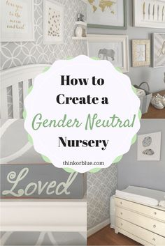 How to create a gender neutral nursery for your baby, with serene and calm decor, without the gender stereotypes. Baby room decor with gray and white.