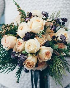 Winter Wedding Bouquet. www.rustandthistle.com Florals by Rust & Thistle