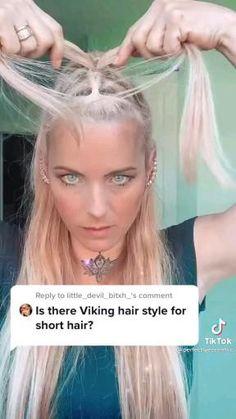 V Hair, Hair Dos, Khaleesi Hair, Viking Hair, Dope Hairstyles, Hair Color And Cut, About Hair, Cut And Style, Hair Hacks