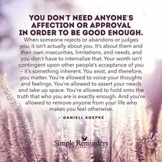 You EXIST, and therefore, you MATTER...