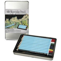 Watercolor Pencil Art Kit W/Tin