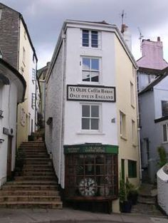 This is the 'Coffin House' in Brixham, Devon, England. When a father was asked for the hand in marriage of his daughter, he said he would 'see her in a coffin, before she wed'. The future son-in-law bought the coffin shaped property called it The Coffin House and went back to the father and said 'Your wishes will be met, you will see your daughter in a coffin, the Coffin House' Amazed by this the father gave his blessing