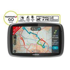 "TOMTOM GO 5000, GPS 5"", 45 pays - Cartes & Trafic gratuits à vie - Bluetooth pas cher - PetitBuzz ❤"