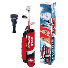 Paragon Rising Star Kids/Toddler Golf Clubs Set / Ages 3-5 Red Right-Hand at http://suliaszone.com/paragon-rising-star-kidstoddler-golf-clubs-set-ages-3-5-red-right-hand/