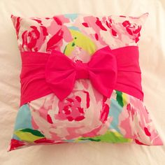 Lilly Pulitzer pillow - First Impressions by thePINKpups on Etsy https://www.etsy.com/listing/223276306/lilly-pulitzer-pillow-first-impressions