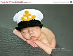 Sale Newborn Navy hat photo prop, USN newborn hat, Navy officer hat, United States Navy hat, Newborn photo prop hat on Etsy, $22.50