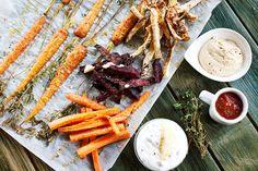 Hranolky z řepy, mrkve i celeru. Jsou skvělé jako příloha nebo jen tak