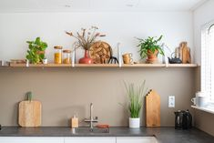 Planken - Handles and Interior Paint, Interior Design Kitchen, Instagram Handle, Interior Inspiration, Floating Shelves, Sweet Home, New Homes, House, Home Decor