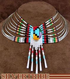 Genuine Liquid Sterling Silver And Multicolor Peacock Necklace
