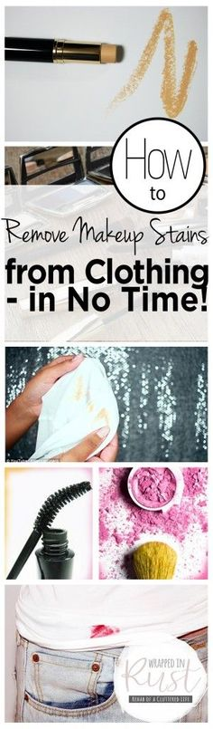 How to Remove Makeup Stains from Clothing — in No Time! | Clothing, Clothing Care Tips and Tricks, Removing Makeup Stains from Clothing, Stain Removal Tips and Tricks, How to Remove Makeup Stains from Clothes, Clothing Care Hacks, Popular Pin