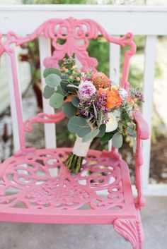 Boho Bridal Bouquet by Buds Etc. - Boho Inspired Wedding - Photo by Harmony Lynn Photography - Rossetter House and Museum in Melbourne, FL - click pin for more - www.orangeblossombride.com