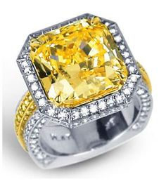 Diamore Diamonds Dallas 972-503-8882 Fancy Yellow Diamond Rings in Dallas, Texas at Diamore Diamonds Dallas - 10 Carat Yellow Diamond Engagement Ring
