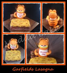 Garfield and Lasagne Cake