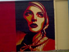 Shepard Fairey murals in West Dallas