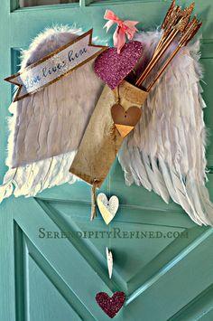 Valentine's day door decoration Idea by SerendipityRefined.com