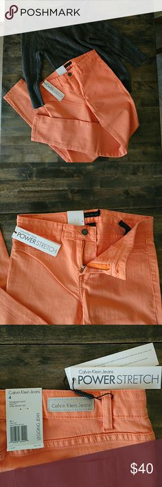 Calvin Klein Jeans Calvin Klein Jeans. Really pretty peach color, skinny. Brand new with tags. Size 4. Calvin Klein Jeans Jeans Skinny