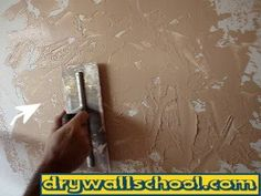"""How to do a """"Skip trowel texture"""" (Page 2 of 2) This is exactly what we need to do to your room @monicaharding5"""