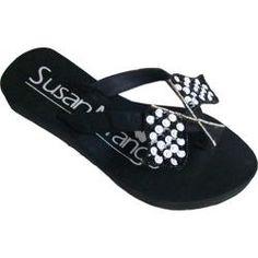 @Overstock - Women's Susan Mango Race Flag Black/White - This Race Flag sequined flip flops are a joy to wear. Show your whimsical sense of fun and collect smiles all day long. Cushy rubber soles lined in soft sueded satin with lined straps ensure comfort.    http://www.overstock.com/Clothing-Shoes/Womens-Susan-Mango-Race-Flag-Black-White/7334392/product.html?CID=214117  $27.95