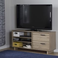 South Shore Fynn TV Stand with Drawers - Free Shipping Today - Overstock.com - 18905452 - Mobile