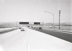 This shot probably won't mean much to non-Angelenos but this one caused my jaw to drop. This is from the early 1960s and shows where the San Diego freeway (the 405 north) meets the Hollywood freeway (the 101). I can't believe how pastoral it was there back in the late 50s. Nowadays, the light-colored freeway is 5 or 6 lanes, and dark lane veering off to the left toward Hollywood is two lanes, and they are always bumper-to-bumper.