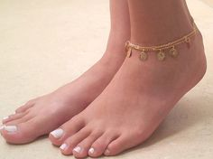 Rose gold anklet gold ankle bracelet marble jewelry Beaded Anklet