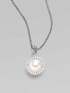 David Yurman White Freshwater Pearl, Diamonds & Sterling Silver Necklace. #SaksLLTrip