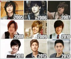 kim hyun joong from 2005 to 2013