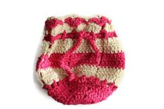 Crochet Gift Bag - Handmade Pouch - Jewelery Bag With Drawstring