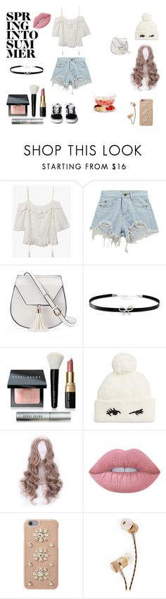 """Spring To Summer"" by butterflyana on Polyvore featuring Chicnova Fashion, Yoki, Giani Bernini, Bobbi Brown Cosmetics, Kate Spade, Lime Crime, MICHAEL Michael Kors, Gibson, Summer and Spring"
