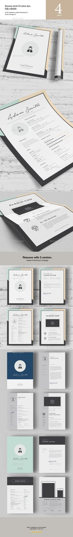 Resume — Photoshop PSD #modern #curriculum vitae • Available here → https://graphicriver.net/item/resume/16862813?ref=pxcr