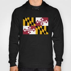 Flag of Maryland - Authentic High Quality image Hoody #Maryland #state #flag #stateflags #marylandflag #annapolis