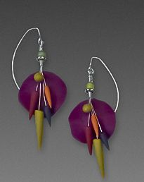 Laura Tabakman - Polymer and Wire Earrings