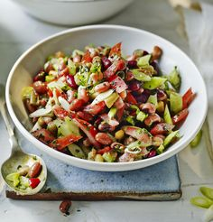 A few store cupboard items and a bit of veg makes a great emergency summer salad!