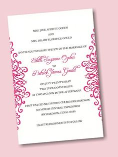 Create Your Own Wedding Invitation Suite 4