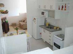 Cozinha Americana Pequena com Sala - Fotos e Móveis   Decoração