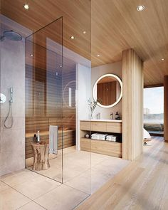 [New] The 10 Best Home Decor (with Pictures) - photo credit Floating House designed by WSM l Die Wohnschiff - Manufaktur and Visualization: xoio GmbH _ _ Interior Exterior, Bathroom Interior Design, Bathroom Designs, Modern Bathroom, Small Bathroom, Bathroom Goals, Neutral Bathroom, Paris Bathroom, Bathroom Tubs